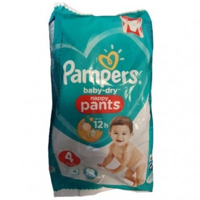 Pampers Baby-Dry Nappy Pants - scutece chilotel nr 4 (9-15kg) 4 buc
