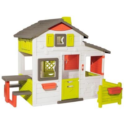 Casuta pentru copii Smoby Friends Playhouse Neo cu gradina