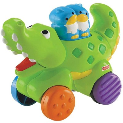 Jucarie Fisher Price by Mattel Infant Press and Go Crocodil